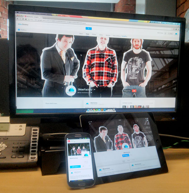 3Manfactory-on-Google-Plus on Chrome, iPad and Android