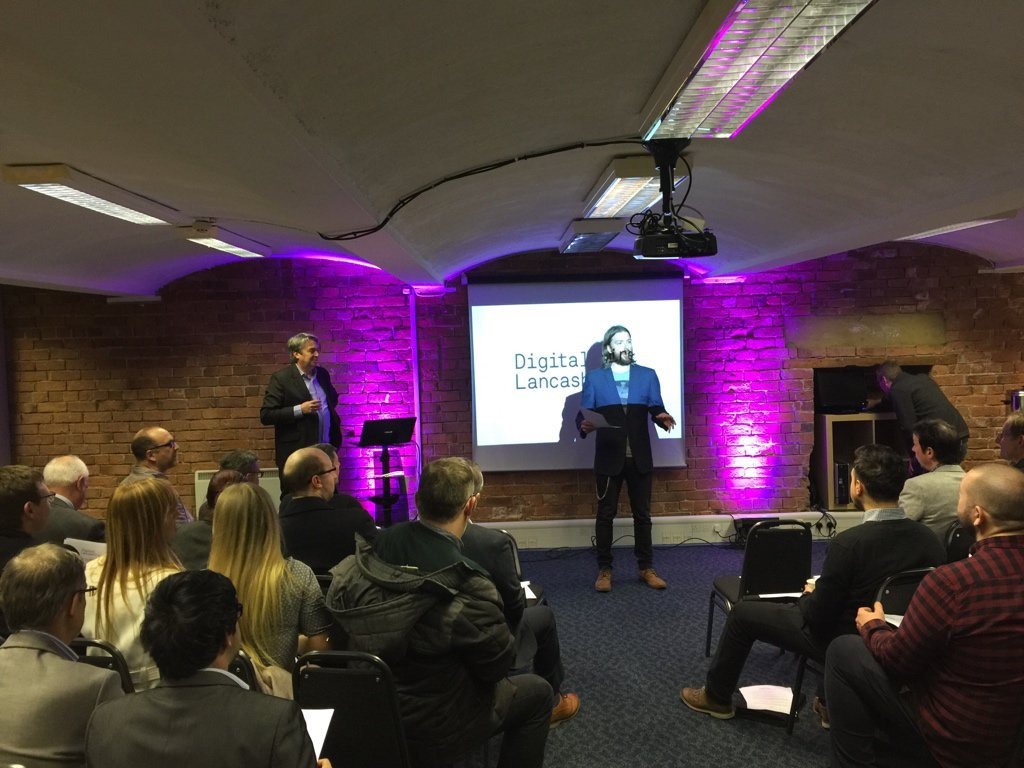 Tom Stables at the Digital Lancashire event - image courtesy of Jeremy Coates @phpcodemonkey
