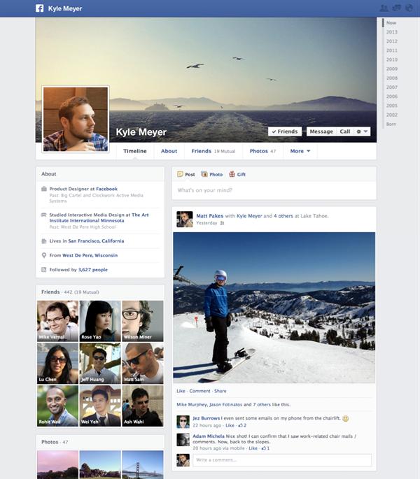 Facebook Revives User Timelines