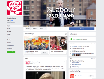 Labour Facebook Page