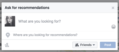 A screenshot of the new recommendation feature that Facebook has introduced to its metrics and analytics.
