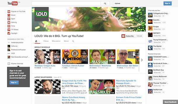 YouTube Channel Loud